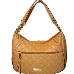 Calvin Klein Camel Buttery Soft Leather Hobo Bag